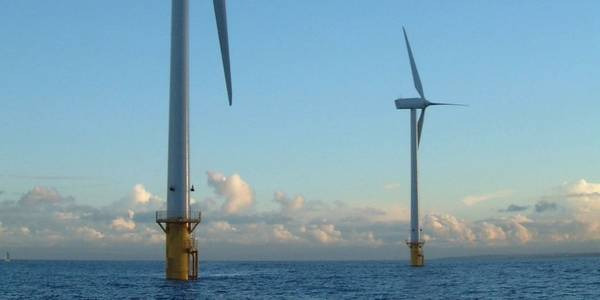 Shortly before dismantling: Blyth, Great Britain's first wind farm. Image. E.ON