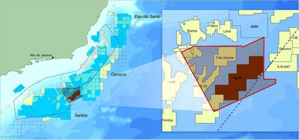 Map showing the location of CGG's Agata Reimaging Program offshore Brazil (courtesy of CGG).