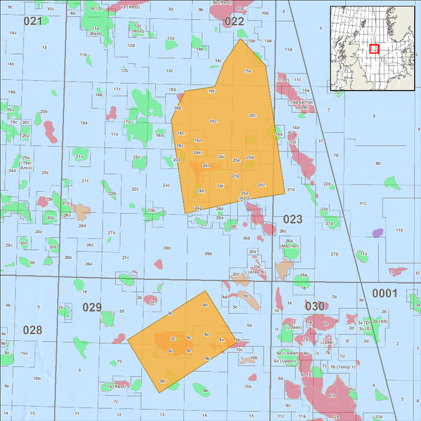 Map showing location of CGG's OBN Cornerstone 2020 survey in the UK Central North Sea  (courtesy of CGG Multi-Client).