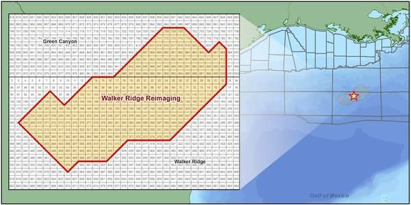Map showing location of the Walker Ridge Reimaging program - Credit: CGG