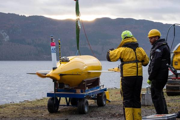 Sonardyne International Ltd. and National Oceanography Centre staff completed the P3AUV trials at Loch Ness, Scotland, this week. (Photo: Sonardyne)