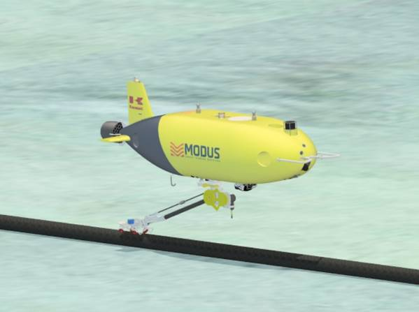 SPICE, World's First AUV with Robot Arm for Subsea Pipeline Inspections / Credit; Kawasaki Heavy Industries