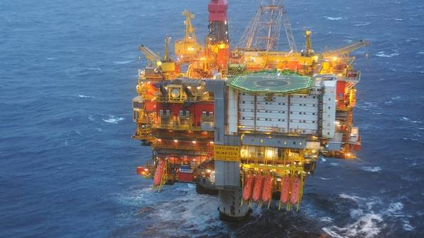 The Statfjord A platform in the North Sea. (Photo: Harald Pettersen / Equinor)