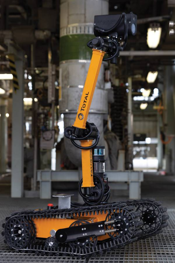 Stevie, the Taurob robot, at Shetland Gas Plant. Photo from Total.