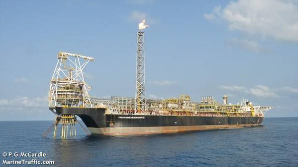 Tullow's FPSO in Ghana/Image by: P.G.McCardle/MarineTraffic.com