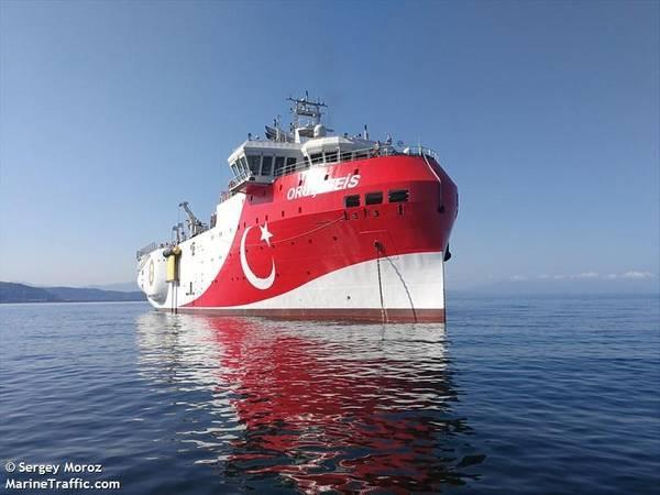 Turkey's Oruc Reis seismic vessel - ©Sergey Moroz / MarineTraffic.com