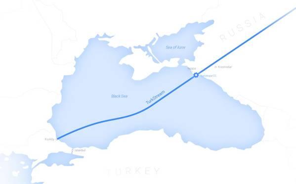 TurkStream Map - Credit: Gazprom