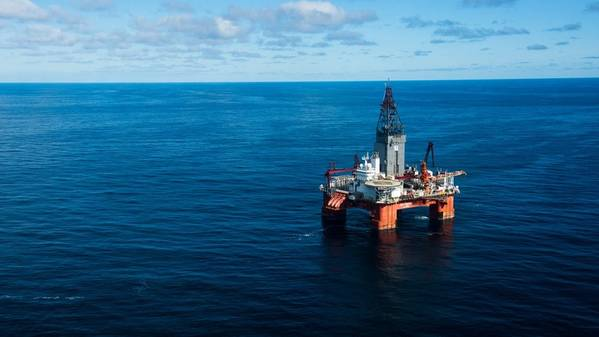 The wells were drilled by the West Hercules drilling rig. (Photo: Ole Jørgen Bratland)
