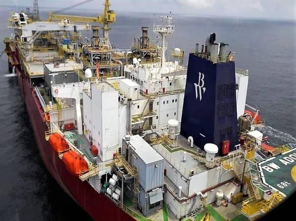 Ένα BW FPSO κατά τη μεταφορά (Φωτογραφία: BW Offshore)
