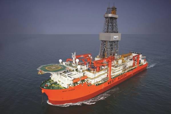 Η Δυτική Auriga, με σύμβαση με την BP έως τον Οκτώβριο του 2020, η παρτίδα τρύπησε τα πηγάδια και θα πραγματοποιήσει μερικές από τις συμπληρώσεις των παρτίδων (Photo: Seadrill)