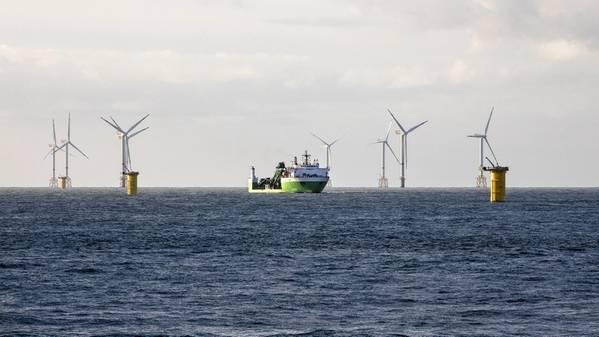 Морская ветроэлектростанция SeaMade. Изображение: DEME Group