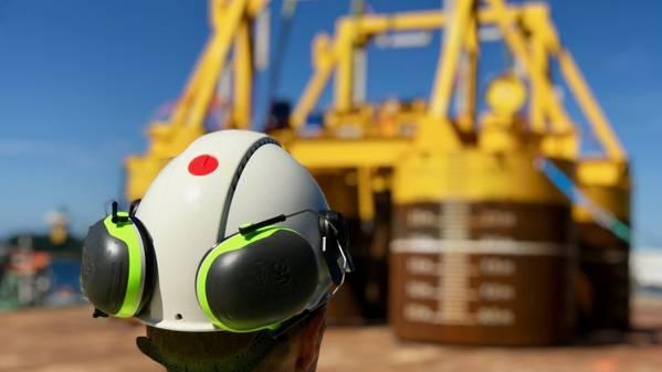 تم بناء قالب Trestakk والقمر الصناعي بواسطة Aibel في Haugesund ، في حين تتحمل TechnipFMC المسؤولية الشاملة عن المعدات تحت البحر وخطوط الأنابيب والتركيب. (الصورة: إيفا سلاير / إيكينور)