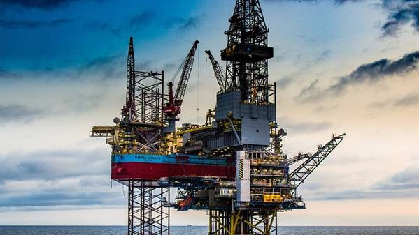 एक हरियाली रिग: Maersk Inteprid (फोटो: Maersk ड्रिलिंग)