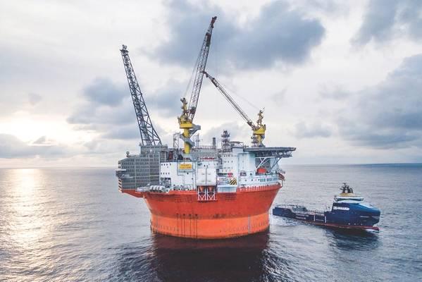 ゴリアト油田はほぼ4年間生産されています。 (写真:VårEnergi)