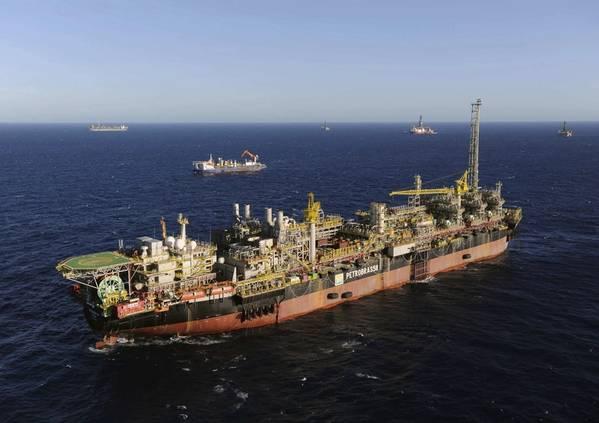 ブラジルの主要生産国の1つであるFPSO P-58(写真:Petrobras)