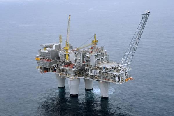 北海のトロールAプラットフォーム(写真:Harald Pettersen / Equinor)
