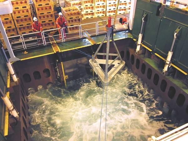 在挪威近海的Ormen Lange项目期间部署AMT。 (照片:Sonardyne)