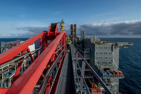 爱德华·格里格平台将从岸上获得全部电力(照片:伦丁石油公司)
