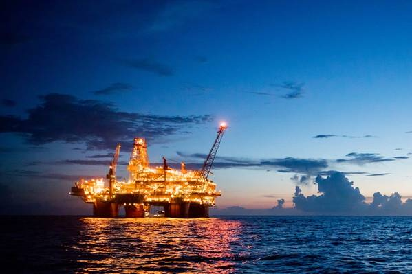 米国メキシコ湾のサンダーホースプラットフォーム(写真:BP)