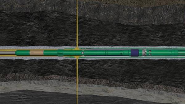 ウェル内で開閉できるスリーブが完成品に取り付けられているため、ウェルへのトリップのみで複数のゾーンを破砕することが可能になりました。 (画像:Aker BP)