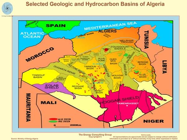 (Imagem: Ministério da Energia da Argélia)