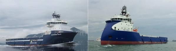 (LR) Норманд Налей, Море Супра. Фото: Solstad Offshore ASA