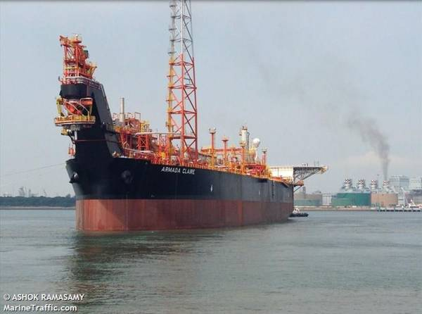 Armada Claire FPSO / Imagem de Ashok Ramasamy - Marine Traffic
