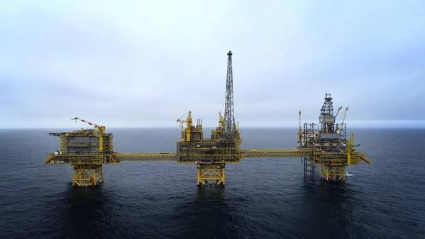 Com uma produção de platô de 100.000 barris de óleo equivalente por dia (boe / d), Culzean representará cerca de 5% do consumo de gás do Reino Unido (Foto: Total)