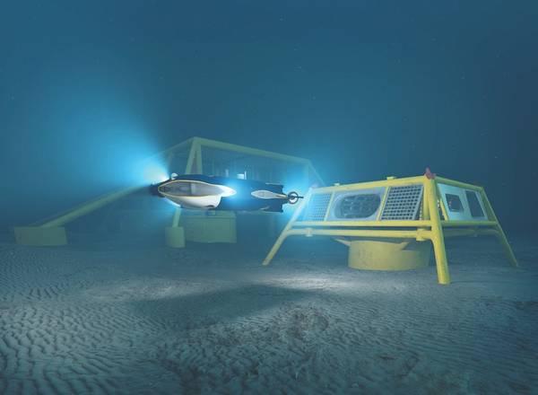 Concepto de la libertad de Oceaneering, una impresión del artista. (Imagen: Oceanografía)