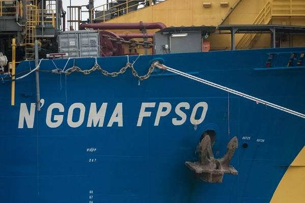 Eni表示计划在2019年底之前从Agogo开始首次生产,并与N'Goma FPSO进行海底回接。 (图片:SBM Offshore)