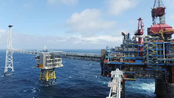 A ExxonMobil tem uma participação de 17,2% no campo de Sleipner no Mar do Norte (Foto: Harald Pettersen / Equinor ASA)