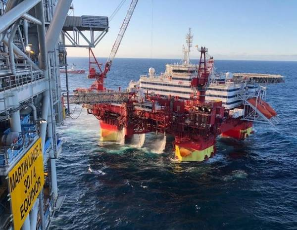 Floatel在Martin Linge油田为Equinor运营的耐力-图片来源:Floatel International