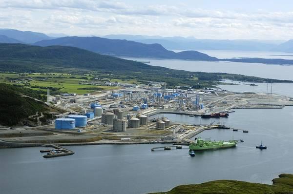Gás para a Europa: o ponto de coleta de gás norueguês offshore em Kaarstoe (Foto: Cortesia Gassco)