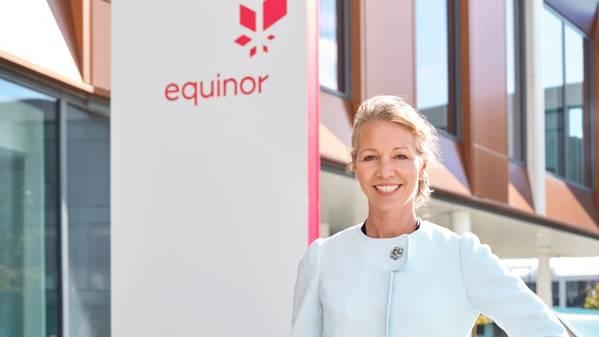 Hedda Felin, Senior Vice President von Equinor für Großbritannien und Irland vor der Küste. (Foto: Øivind Haug)