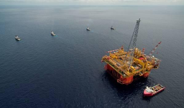 Ichthys LNGプロジェクトの中央処理施設であるIchthys Explorerは、2017年5月にオーストラリアの水域に到着しました(ファイル写真:Inpex)
