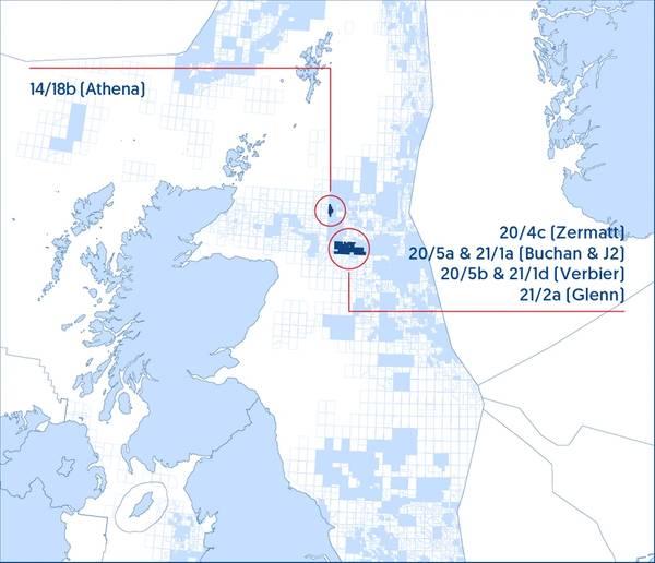Jersey Oil and Gas Lizenzkartenübersicht - Karte von Jersey Oil and Gas