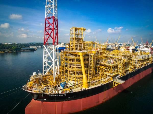 O Kaombo FPSO apoia a produção em campo total da major francesa no campo offshore de Kaombo, em Angola. (Foto: Total)