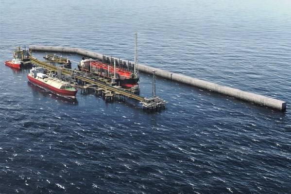 Maior Tortura Ahmeyim LNG Development (Imagem: BP)