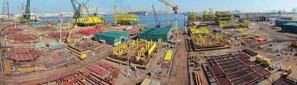 McDermott在阿拉伯联合酋长国的Jebel Ali码头(照片:McDermott)