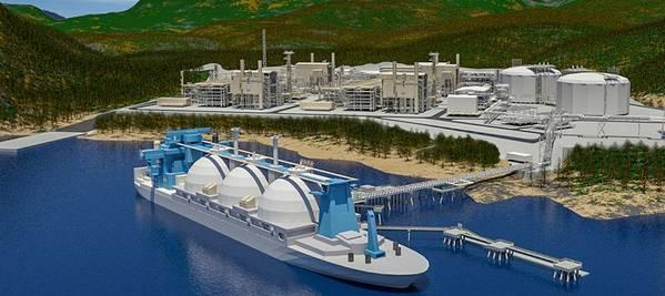 Optimismusfahrer: Kitimat LNG (mit freundlicher Genehmigung von Chevron Global)