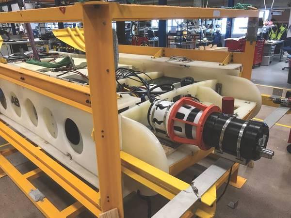 Saab Seaeye's Sabretooth equipado com um conector Blue Logic e dados e carregamento indutivos comprovados (Foto: Saab Seaeye)