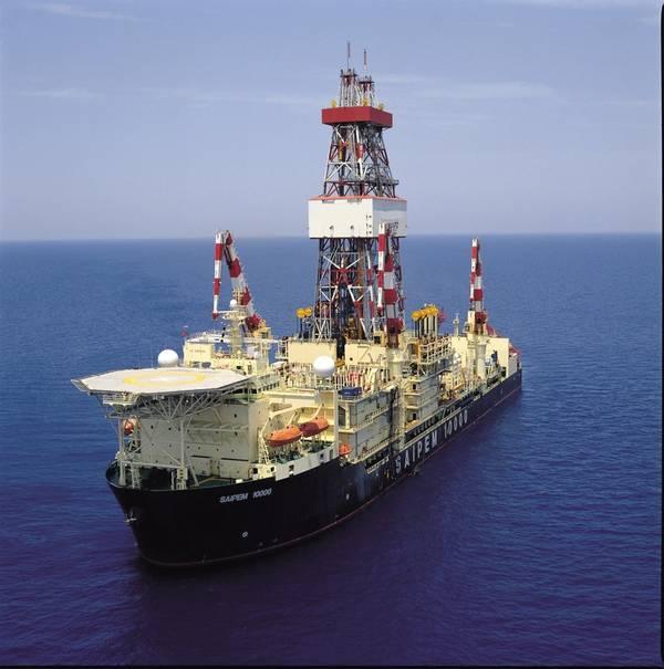 Saipem的钻井船Saipem 10000在地中海Shorouk特许经营权的Eni作业的Zohr油田(照片:Saipem)