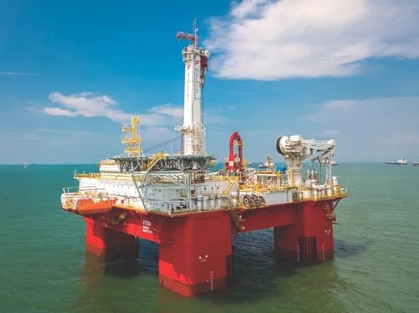 Semi-submersível Q7000 da nova construção do Helix Well Ops (Foto: Helix Well Ops.)