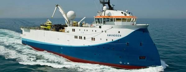 Shearwater GeoServices Amundsen船将在冈比亚部署。 (图片来源:Shearwater)