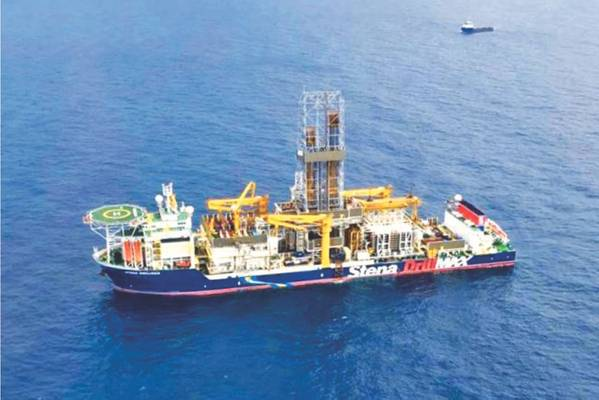 Stena DrillMAX am Bohrstandort in Israel (Foto: Energean Oil & Gas)