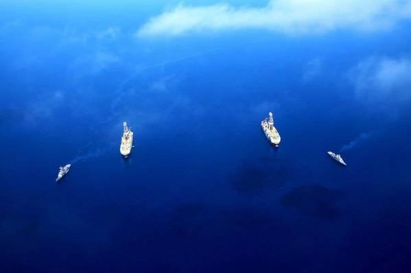 Türkische Bohrschiffe Faith und Yavuz im Mittelmeer (Foto: Ministerium für Energie und natürliche Ressourcen der Türkei)