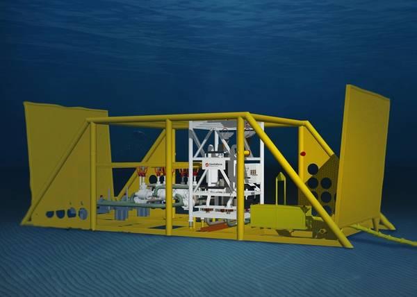 Tecnología de impulso de OneSubsea de Schlumberger (Imagen de archivo: Schlumberger)