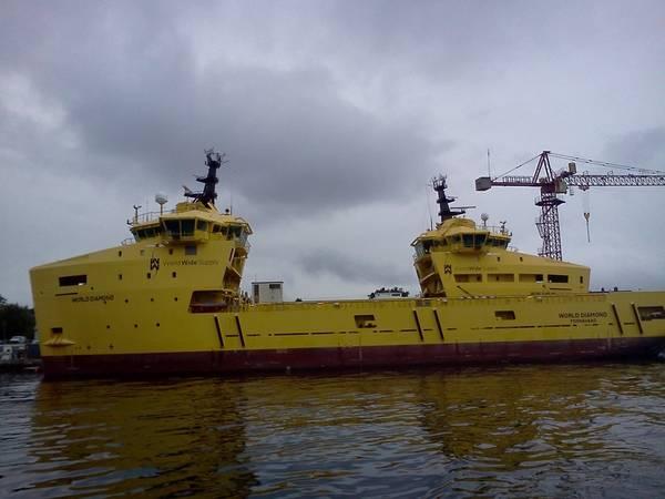 Umbruch: Versorgungsschiffe in Norwegen aufgestellt (Foto: William Stoichevski)