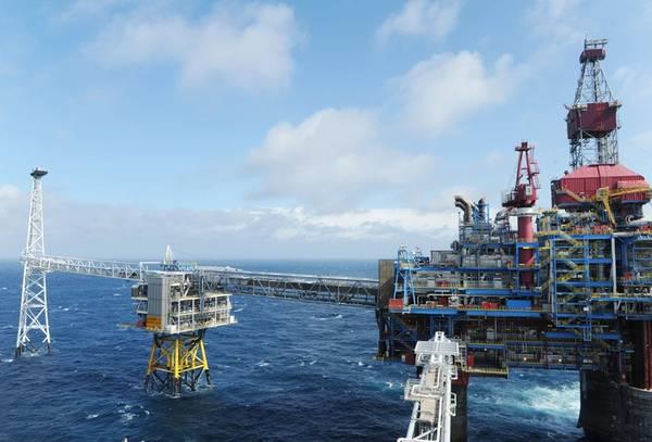 El campo Sleipner en el Mar del Norte. (Foto: Harald Pettersen / Equinor)