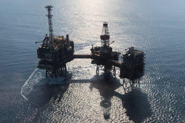 O campo de gás Rhum está localizado no bloco 3 / 29a e é um desenvolvimento submarino vinculado à plataforma Bruce através de um oleoduto isolado. (Foto: Serica Energy)